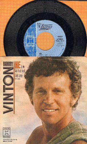 Vinton, Bobby - He/My First And Only Love (with picture sleeve) - NM9/NM9 - 45 rpm Records