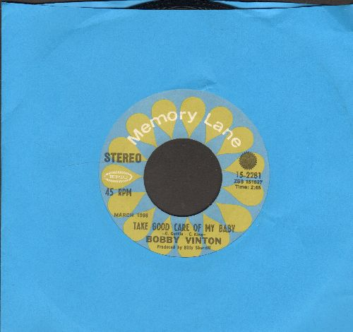 Vinton, Bobby - Take Good Care Of My Baby/Halfway To Paradise (double-hit re-issue) - EX8/ - 45 rpm Records