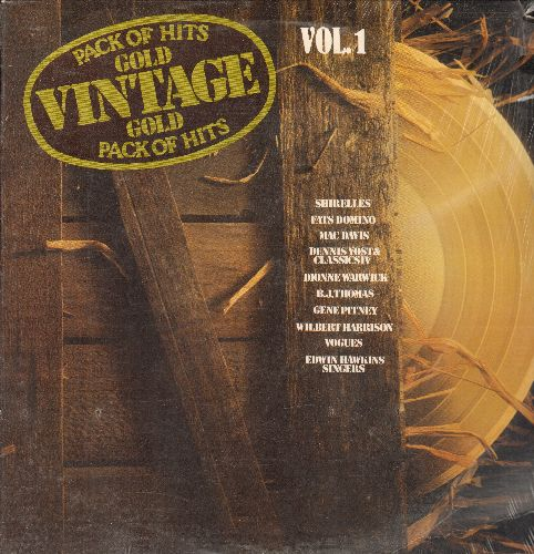 Shirelles, Dionne Warwick, Edwin Hawkins Singers, others - Vintage Gold Vol. 1:  I'm Your Puppet, Oh Happy Day, You're The One, Dedicated To The One I Love (Vinyl LP record, re-issue of vintage recordings, SEALED, never opened!) - SEALED/SEALED - LP Recor