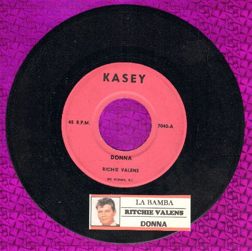 Valens, Ritchie - La Bamba/Donna (pink label early re-issue with juke box label) - EX8/ - 45 rpm Records