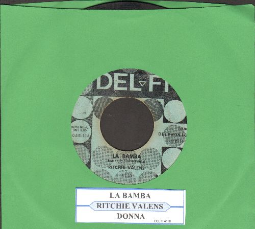 Valens, Ritchie - La Bamba/Donna (green label, black dots with juke box label) - G5/ - 45 rpm Records