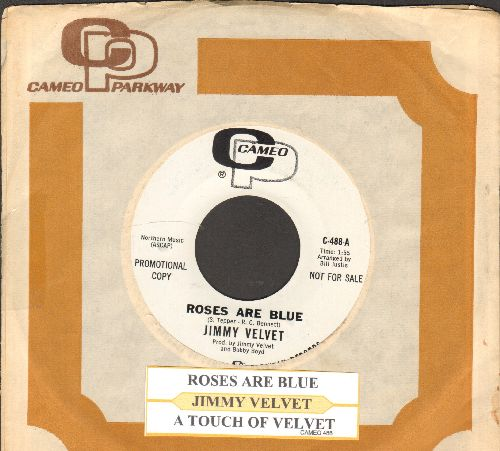 Velvet, Jimmy - A Touch Of Velvet/Roses Are Blue (with juke box label and vintage Cameo company sleeve) - NM9/ - 45 rpm Records