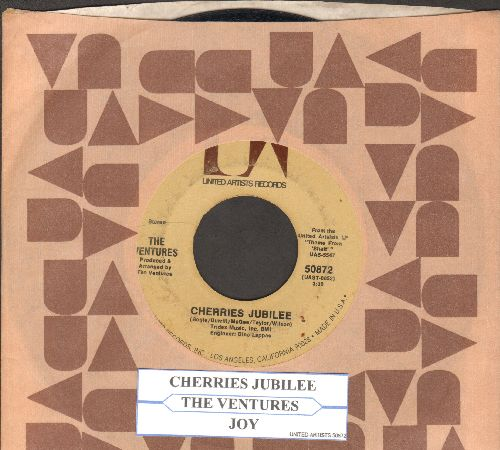 Ventures - Joy/Cherries Jubilee (with juke box label and United Atists company sleeve) - EX8/ - 45 rpm Records