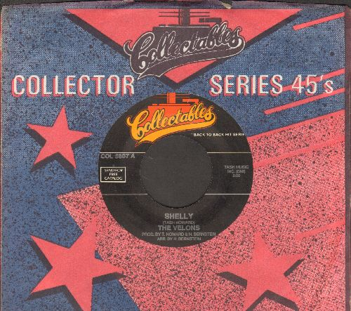 Velons - Shelly/Face In The Crowd (by The Montereys on flip-side) (re-issue with company sleeve) - NM9/ - 45 rpm Records