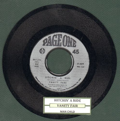 Vanity Fare - Hitchin' A Ride/Man Child (early pressing with juke box label) - NM9/ - 45 rpm Records