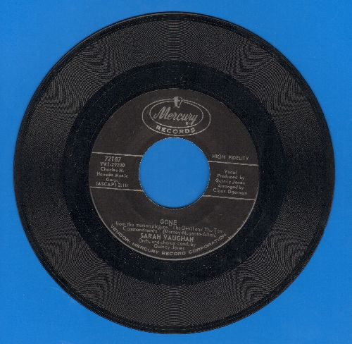Vaughan, Sarah - Gone/Show Me A Man - NM9/ - 45 rpm Records