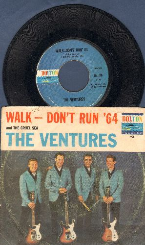 Ventures - Walk--Don't Run '64/The Cruel Sea (with RARE picture sleeve) - EX8/VG7 - 45 rpm Records