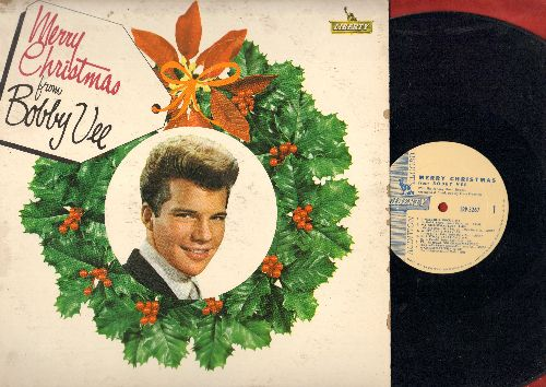 Vee, Bobby - Merry Christmas: Winter Wonderland, I'll Be Home For Christmas, My Christmas Love, Jingle Bell Rock, A Not So Merry Christmas, There's No Place Like Home For The Holidays (Vinyl MONO LP record, DJ advance pressing) - EX8/VG7 - LP Records