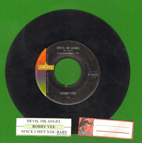 Vee, Bobby - Devil Or Angel/Since I Met You Baby  - EX8/ - 45 rpm Records