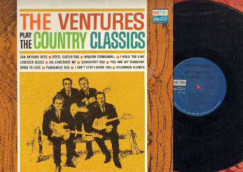 Ventures - Country Classics: Born To Lose, I Walk The Line, I Can't Stop Loving You, You Are My Sunshine (vinyl STEREO LP record) - EX8/EX8 - LP Records