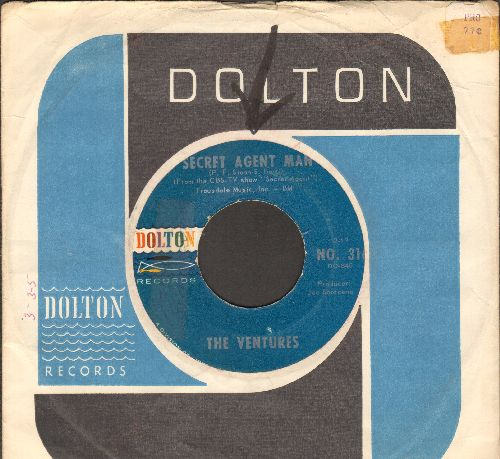 Ventures - Secret Agent Man/007-11 (with Dolton company sleeve) - EX8/ - 45 rpm Records