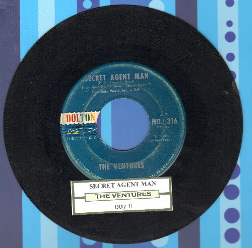 Ventures - Secret Agent Man/007-11 (with juke box label) - VG7/ - 45 rpm Records