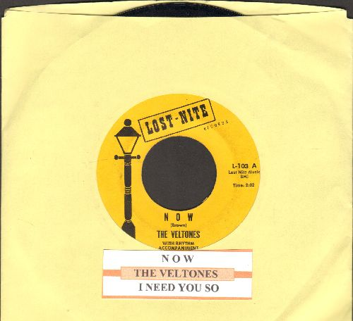 Veltones - I Need You So/Now (re-issue with juke box label) - VG7/ - 45 rpm Records
