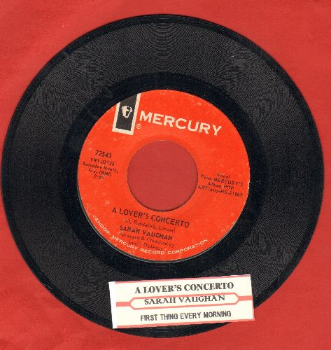 Vaughan, Sarah - A Lover's Concerto/First Thing Every Morning (with juke box label) - NM9/ - 45 rpm Records