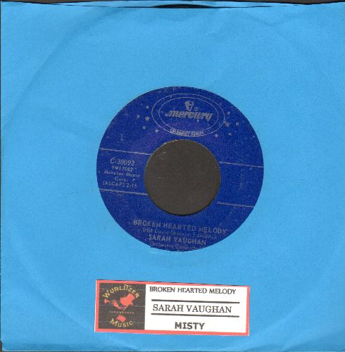 Vaughan, Sarah - Broken Hearted Melody/Misty (blue label double-hit reissue with juke box label) - NM9/ - 45 rpm Records