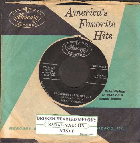 Vaughan, Sarah - Broken-Hearted Melody/Misty (with vintage Mercury company sleeve and juke box label) - EX8/ - 45 rpm Records