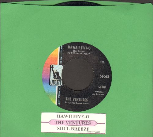 Ventures - Hawaii Five-O/Soul Breeze (with juke box label) - NM9/ - 45 rpm Records