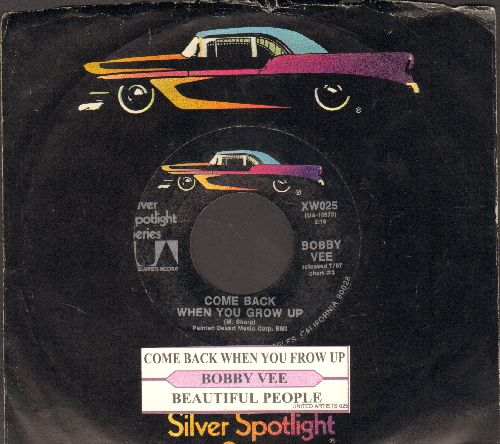 Vee, Bobby - Come Back When You Grow Up/Beautiful People (double-hit re-issue with juke box label and company sleeve) - NM9/ - 45 rpm Records