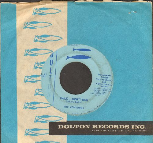 Ventures - Walk--Don't Run/Home (RARE alternate flip-side!)(with vintage Dolton company sleeve) - EX8/ - 45 rpm Records