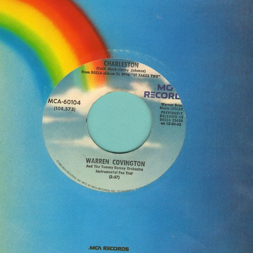 Covington, Warren - Charleston/The Bunny Hop (re-issue of vintage Novelty recordings with MCA company sleeve) - NM9/ - 45 rpm Records