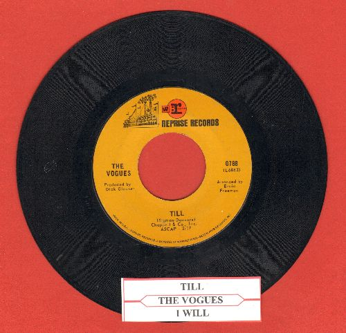 Vogues - Till/I Will (with juke box label) - EX8/ - 45 rpm Records
