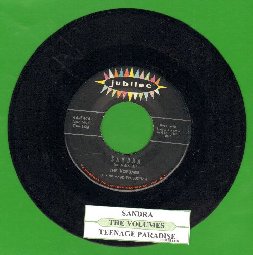 Volumes - Sandra/Teenage Paradise (with juke box label) - EX8/ - 45 rpm Records