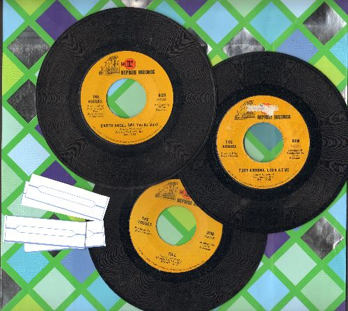 Vogues - 3 Pack of first issue 45s includes hits Earth Angel/Turn Around, Look At Me/Till. Shipped in plain white paper sleeves with 4 blank juke box labels. - VG7/ - 45 rpm Records
