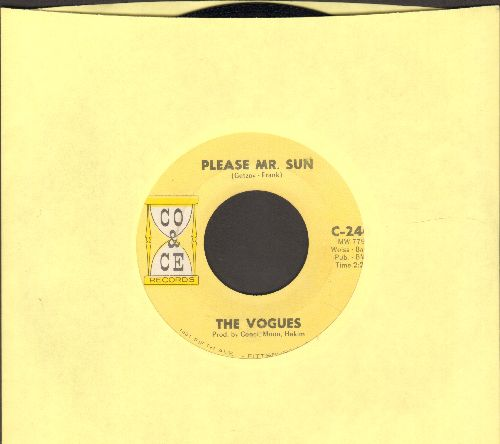 Vogues - Please Mr. Sun/Don't Blame The Rain (NICE condition!) - NM9/ - 45 rpm Records