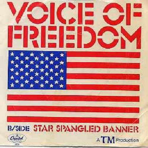 Kirk, Jim & The TM Singers - Voice Of Freedom/Star Spangled Banner (with picture sleeve, song lyrics on back) - NM9/EX8 - 45 rpm Records