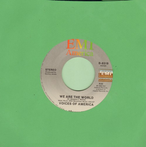 Voices Of America - We Are The World/Hands Across America  - EX8/ - 45 rpm Records