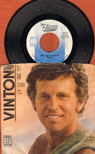 Vinton, Bobby - She Will Survive (Poland)/Love Is The Reason (with picture sleeve) - NM9/VG7 - 45 rpm Records