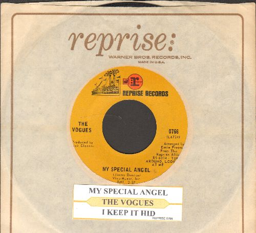 Vogues - My Special Angel/I Keep It Hid (with juke box label Reprise company sleeve) - EX8/ - 45 rpm Records