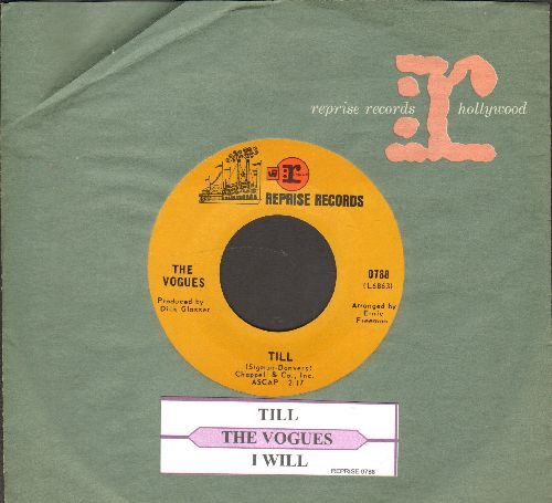 Vogues - Till/I Will (with juke box label and Reprise company sleeve) - NM9/ - 45 rpm Records