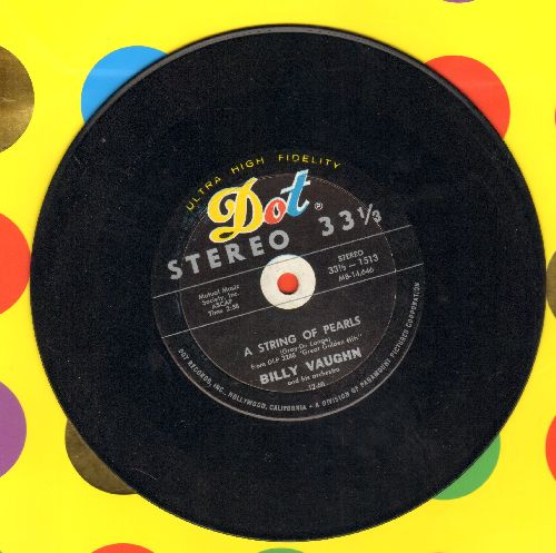 Vaughn, Billy & His Orchestra - A String Of Pearls/Tuxedo Juction (RARE 7 inch 33rpm STEREO record) - EX8/ - 45 rpm Records