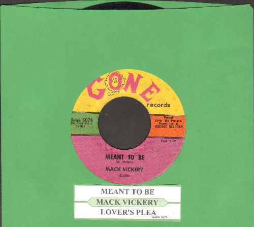 Vickery, Mack - Mean To Me/Lover's Plea (with juke box label) - VG7/ - 45 rpm Records