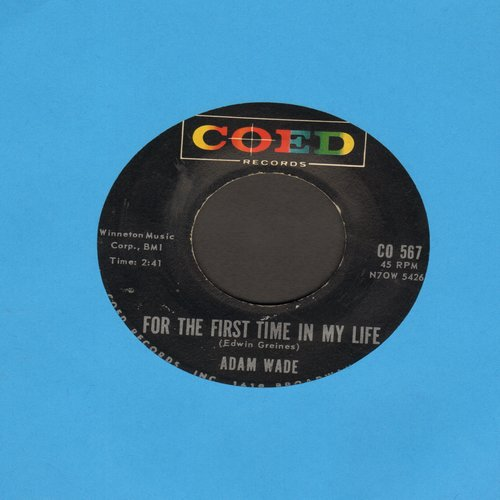 Wade, Adam - For The First Time In My Life/Little Miss Lovely - NM9/ - 45 rpm Records