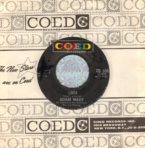 Wade, Adam - Linda/Tonight I Won't Be There (with RARE Coed company sleeve) (wol) - NM9/ - 45 rpm Records