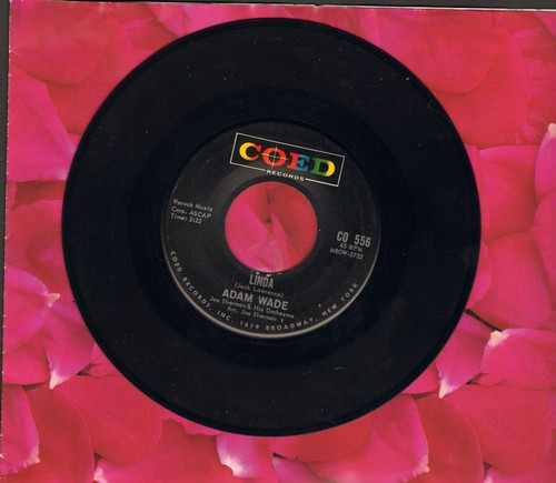 Wade, Adam - Linda/Tonight I Won't Be There  - VG7/ - 45 rpm Records