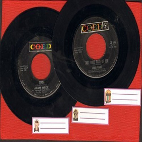 Wade, Adam - 2 for 1 Special: Linda/Take Good Crae Of Her (2 vintage first issue 45rpm records with juke box labels for the price of 1!) - VG7/ - 45 rpm Records