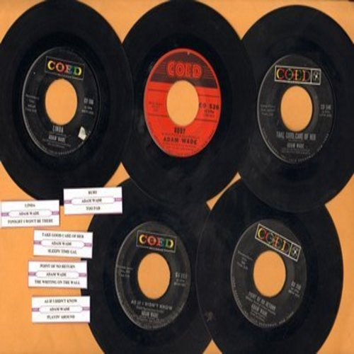 Wade, Adam - 5-Pack of Original first issues with juke box labels, includes Linda, Ruby, Point Of No Return, As If I Didn't Know and Take Good Care Of Her. - VG7/ - 45 rpm Records