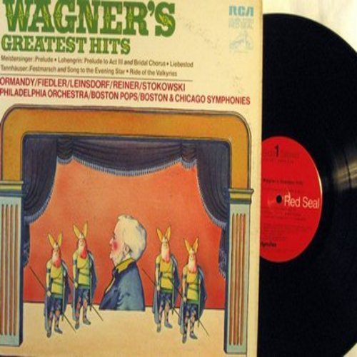 Wagner, Richard - Wagner's Greatest Hits: Ride of the Valkyries, Lohengrin Bridal Chorus, Liebestod, Festmarsch, Song to the Evening Star (Vinyl STEREO LP record, Red Seal pressing) - M10/EX8 - LP Records