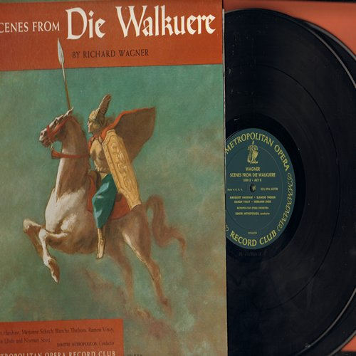 Wagner, Richard - Scenes From Die Walkuere by Richard Wagner - 2 vinyl LP record set issued by The Metropolitain Opera Record Club, with gate-fold cover - NM9/NM9 - LP Records