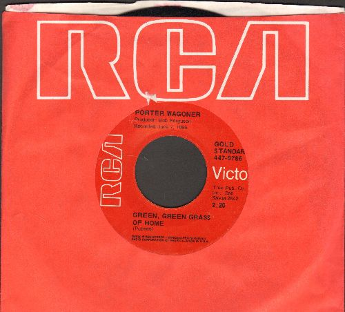 Wagoner, Porter - Green, Green Grass Of Home/The Cold Hard Facts Of Life ( (double-hit re-issue with RCA company sleeve) - NM9/ - 45 rpm Records