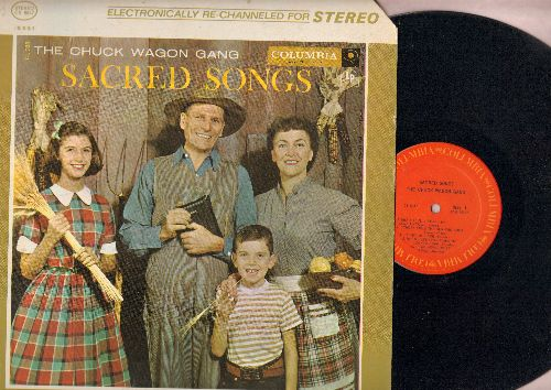 Chuck Wagon Gang - Sacred Songs: A Beautiful Life, Come Unto Me, He Set Me Free, I'll Fly Away, Love Is The Key (Vinyl STEREO LP record, re-issue of vintage recordings) - EX8/VG7 - LP Records