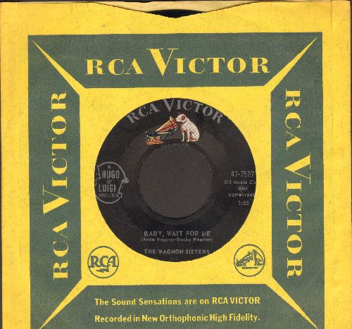 Wagnon Sisters - Baby, Wait For Me/My Desire (VERY NICE Vintage Girl-Sound 2-sider with RCA company sleeve) - EX8/ - 45 rpm Records