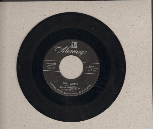 Washington, Dinah - Soft Winds/Tears To Burn - EX8/ - 45 rpm Records