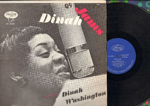 Washington, Dinah - Dinah Jams: Lover Come Back To Me, Summertime, Come Rain Or Come Shine, You Go To My Head (early re-issue) - EX8/EX8 - LP Records