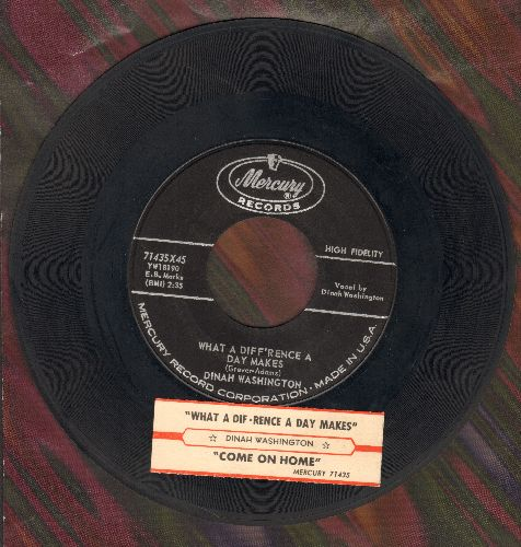 Washington, Dinah - What A Difference A Day Makes/Come On Home (with juke box label) - EX8/ - 45 rpm Records