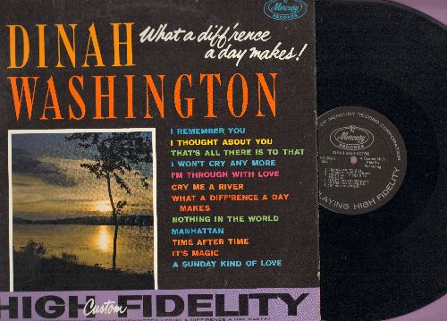 Washington, Dinah - What A Diff'rence A Day Makes!: Cry Me A River, Time After Time, I Remember You (Vinyl MONO LP record) - NM9/NM9 - LP Records