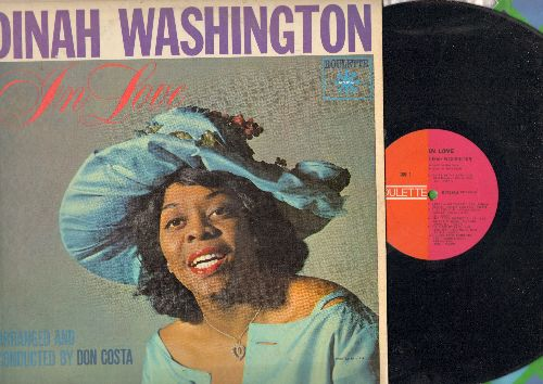 Washington, Dinah - In Love: Fly Me To The Moon, That's My Desire, Do Nothin' 'Till You Hear From Me (vinyl MONO LP record) - EX8/VG7 - LP Records